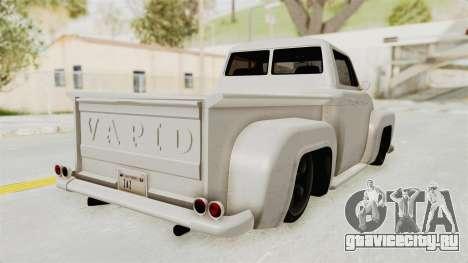 GTA 5 Slamvan Stock для GTA San Andreas вид сзади слева