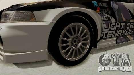 Mitsubishi Lancer Evolution VI Tenryuu Itasha для GTA San Andreas вид сзади