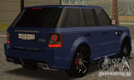 Range Rover Sport Tuning для GTA San Andreas вид слева