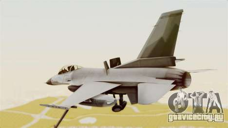 F-16 Fighting Falcon для GTA San Andreas вид справа