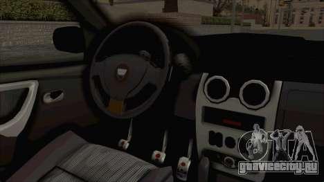 Dacia Duster 2010 Tuning для GTA San Andreas вид изнутри