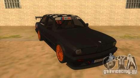 BMW 325i Turbo для GTA San Andreas вид сзади