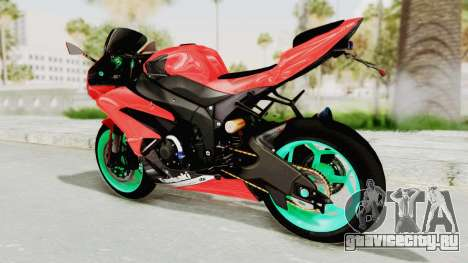 Kawasaki Ninja ZX-6R Highmodif для GTA San Andreas вид справа