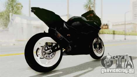 Kawasaki Ninja 250R Black Cobra RnB Anak Jalana для GTA San Andreas вид сзади слева