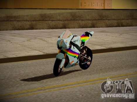 Yamaha YZR M1 2016 Rainbow Dash для GTA San Andreas