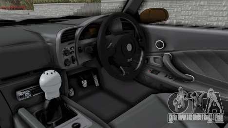 Honda S2000 S2K-AP1 для GTA San Andreas вид изнутри