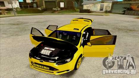 Ford Focus Taxi для GTA San Andreas вид сзади слева