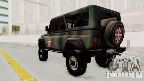 УАЗ-3153 Охотник Сербские Войска для GTA San Andreas вид слева