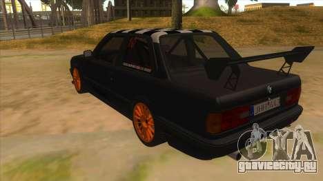 BMW 325i Turbo для GTA San Andreas вид сзади слева