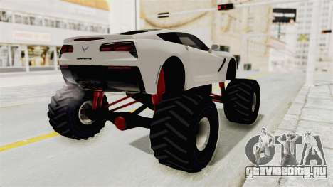 Chevrolet Corvette Stingray C7 Monster Truck для GTA San Andreas вид слева