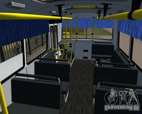Паз 3205 Дзержинск для GTA San Andreas вид снизу