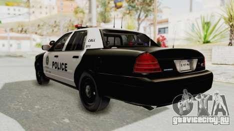 Ford Crown Victoria SFPD для GTA San Andreas вид слева