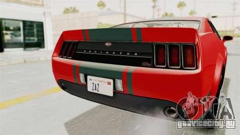 GTA 5 Vapid Dominator v2 SA Lights для GTA San Andreas вид сверху