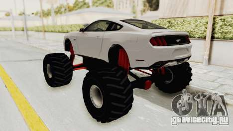 Ford Mustang GT 2015 Monster Truck для GTA San Andreas вид сзади слева