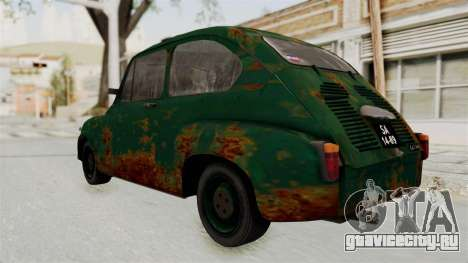 Zastava 750 Rusty для GTA San Andreas вид сзади слева