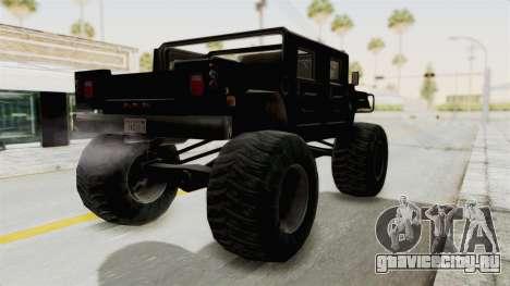 Hummer H1 Monster Truck TT для GTA San Andreas вид слева