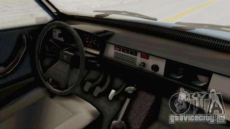 Dacia 1310 MLS 1988 Stock для GTA San Andreas вид изнутри