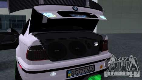 BMW M3 E46 JDM для GTA San Andreas вид сзади