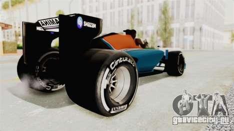 Rio Haryanto 88 F1 Manor Racing для GTA San Andreas вид слева
