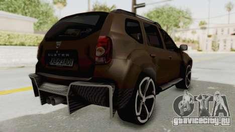 Dacia Duster 2010 Tuning для GTA San Andreas вид сзади слева