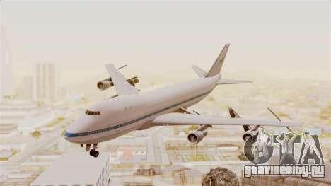 Boeing 747-123 NASA для GTA San Andreas вид сзади слева