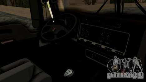 Kenworth T660 Sleeper для GTA San Andreas вид изнутри