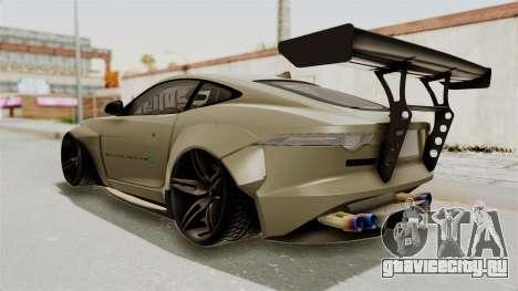 Jaguar F-Type L3D Store Edition для GTA San Andreas вид слева