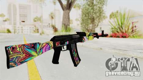 AK-47 Cannabis Camo для GTA San Andreas второй скриншот