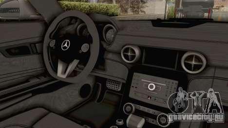 Mercedes-Benz SLS AMG 2010 Monster Truck для GTA San Andreas вид изнутри
