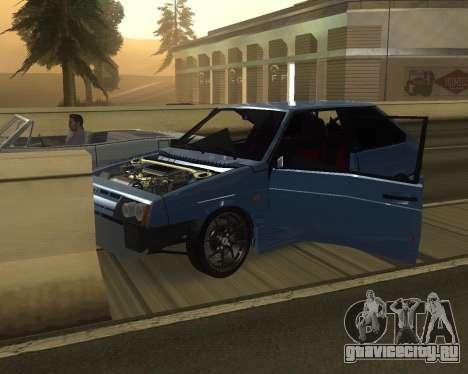 VAZ 2108 для GTA San Andreas вид сверху