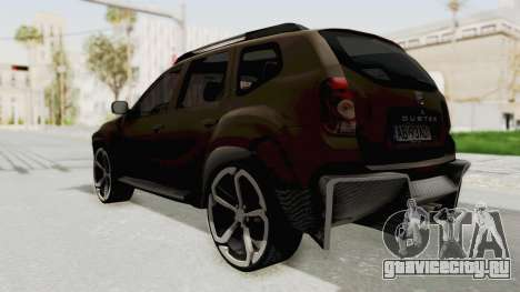 Dacia Duster 2010 Tuning для GTA San Andreas вид слева