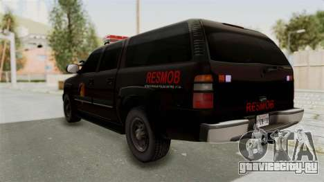 Chevrolet Suburban Indonesian Police RESMOB Unit для GTA San Andreas вид слева