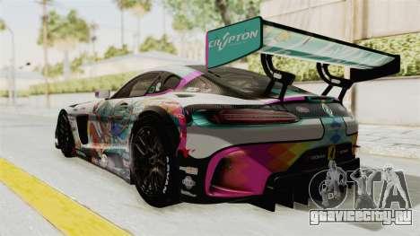 Mercedes-Benz SLS AMG GT3 2016 Goodsmile Racing для GTA San Andreas вид сзади слева