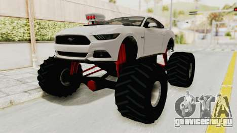 Ford Mustang GT 2015 Monster Truck для GTA San Andreas вид справа
