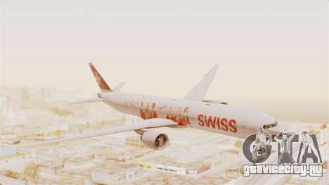 Boeing 777-300ER Faces of SWISS Livery для GTA San Andreas вид сзади слева