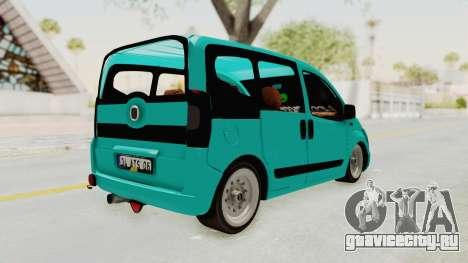 Fiat Fiorino Hellaflush v1 для GTA San Andreas вид сзади слева