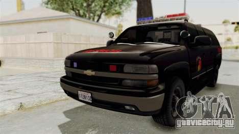 Chevrolet Suburban Indonesian Police RESMOB Unit для GTA San Andreas вид сзади слева
