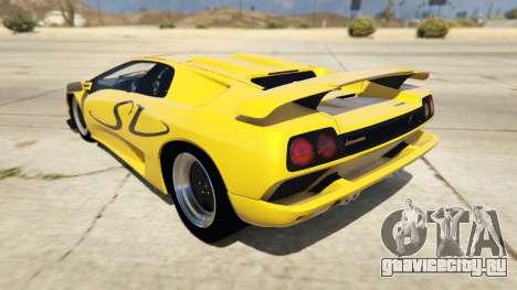 Lamborghini Diablo SV 1997 для GTA 5 вид сзади слева
