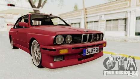 BMW M3 E30 1988 для GTA San Andreas