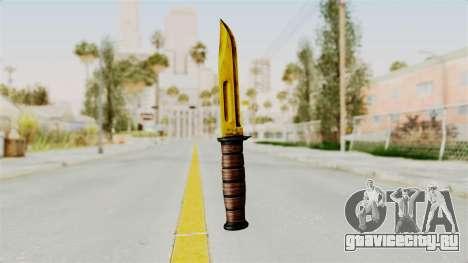 Knife Gold для GTA San Andreas второй скриншот