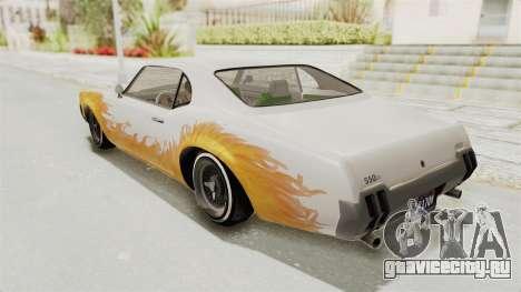 GTA 5 Declasse Sabre GT2 IVF для GTA San Andreas вид сверху
