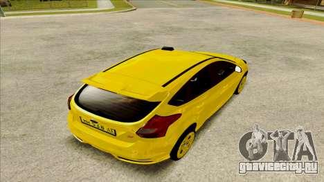 Ford Focus Taxi для GTA San Andreas вид слева