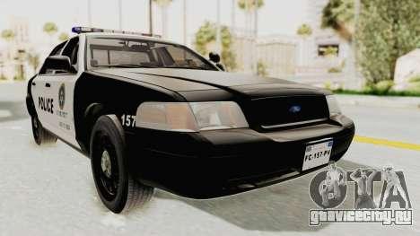 Ford Crown Victoria SFPD для GTA San Andreas вид справа