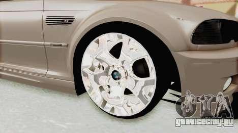 BMW M3 E46 для GTA San Andreas вид сзади