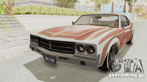 GTA 5 Declasse Sabre GT2 IVF для GTA San Andreas вид снизу
