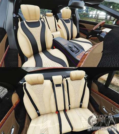 Mercedes-Benz S500 (W222) [bridgestone] v2.1 для GTA 5 руль и приборная панель