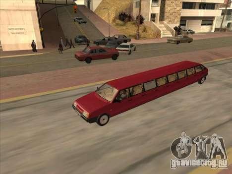 VAZ 2109 17-door для GTA San Andreas