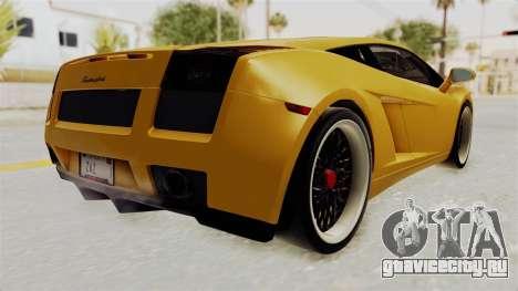 Lamborghini Gallardo 2005 для GTA San Andreas вид справа