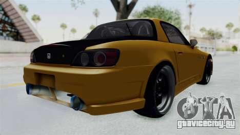 Honda S2000 S2K-AP1 для GTA San Andreas вид сзади слева