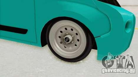 Fiat Fiorino Hellaflush v1 для GTA San Andreas вид сзади